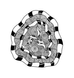 decorative hand drawn mandala elements and flowers vector image