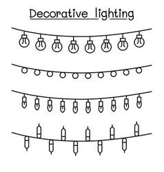 decorative lighting graphic design vector image
