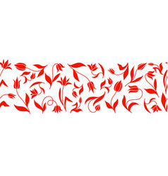 Decorative tulips vertical pattern seamless vector