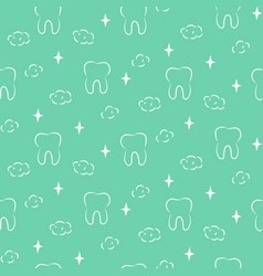 dental seamless pattern with teeth vector image