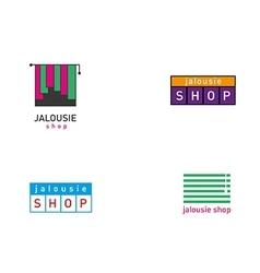 Development jalousie store logos series vector