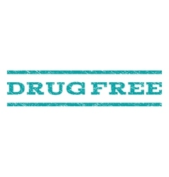 Drug Free Watermark Stamp vector image
