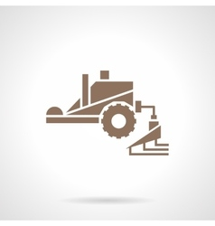 Fertilizing machinery glyph style icon vector