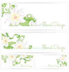 Flower background brochure Floral cards vector image