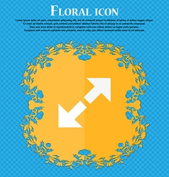 Full screen icon Floral flat design on a blue vector