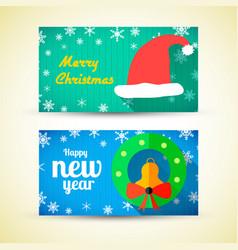 greeting horizontal banners vector image