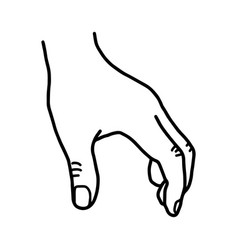 Hand grabbing blank space - sketch vector
