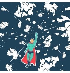 Hero Saves Planet vector