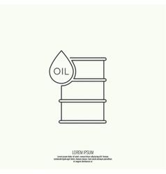 Icon petroleum barrels vector