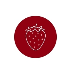Icon Strawberry in the Contours vector image