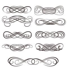 infinity symbols vector image vector image
