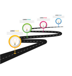 infographic street road map four template i vector image
