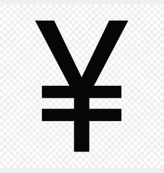 Japanese yena sign vector