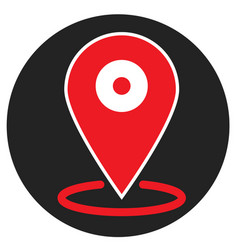 location icon on white background flat style vector image