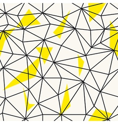 Low poly seamless repeat pattern Triangular facets vector image