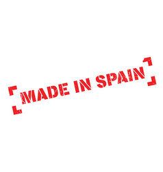 made in spain rubber stamp vector image