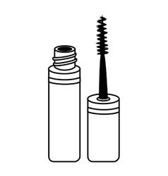 mascara make up brush isolated vector image