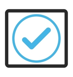 Ok Framed Icon vector