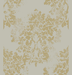 ornament on grunge background baroque vector image