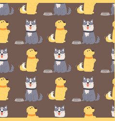 playing dogs characters vector image