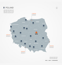 Poland infographic map vector
