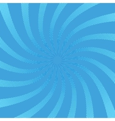 Radial swirl comic background vector