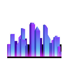 Realistic neon city icon vector