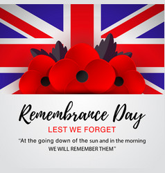 Remembrance day poster lest we forget vector