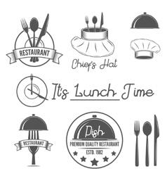 set badges and labels elements for restaurant vector image