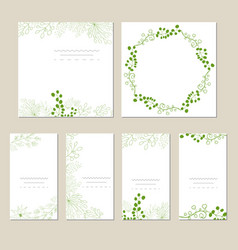 set of artistic universal cards vector image