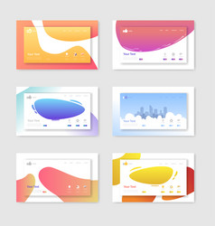 Set of website templates landing page layouts vector