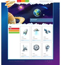 Space website template vector image