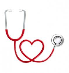 Stethoscope in shape heart vector