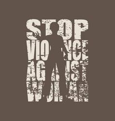 Stop violence social concept vector
