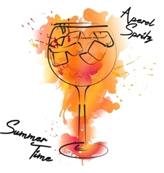 Summer bar cocktail vector