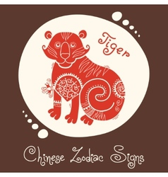 Tiger Chinese Zodiac Sign vector