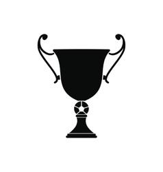 Trophy cup black simple icon vector image