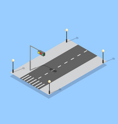 urban city lane highway vector image