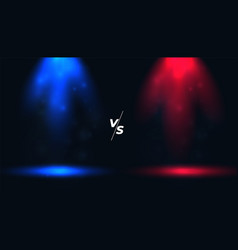 Versus vs background with blue and red spotlights vector