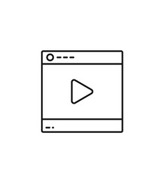 video player online icon marketing icon thin line vector image
