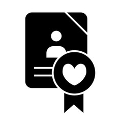 Wedding document solid icon newlyweds form vector