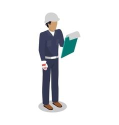 Worker in Uniform Flat Design vector
