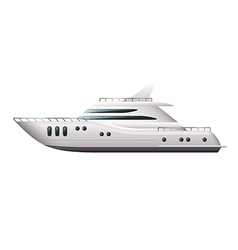 yacht isolated vector image