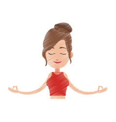 yogi meditating icon image vector image