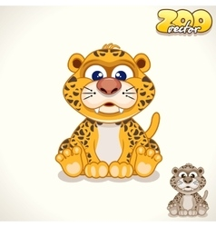 Cartoon Leopard Character vector image