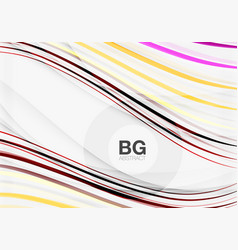 colorful stripes on grey vector image vector image