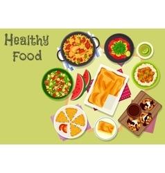 Delicious lunch icon for healthy food design vector image vector image