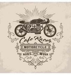 Custom motorcycle Vintage Design vector image