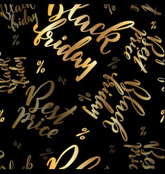 hand drawn lettering promo for black friday vector image vector image