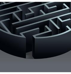 Maze 3d circle vector image